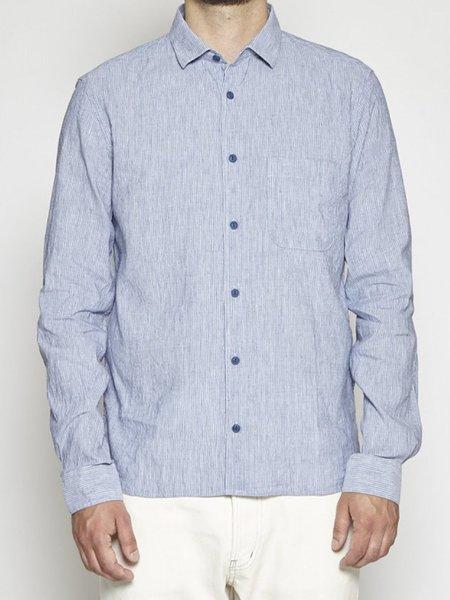 YMC Stripe Curtis Shirt - Blue