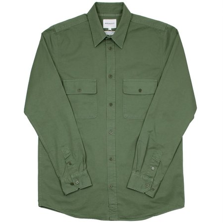 Norse Projects Villad Light Twill Shirt - Dried Olive