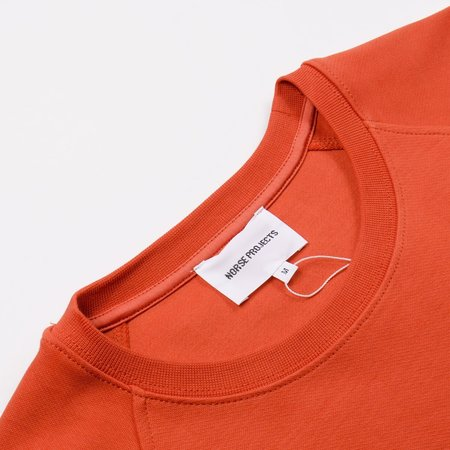 Norse Projects Vorm Summer Interlock Sweatshirt - Burned Red