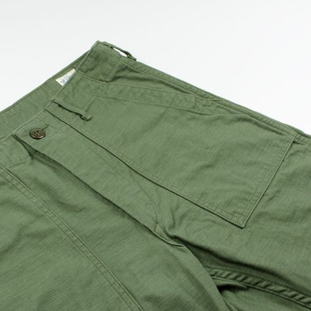 orSlow Slim Fit Fatigue Pants - Green