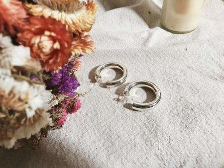The Marquet Large Silver Hoops - silver