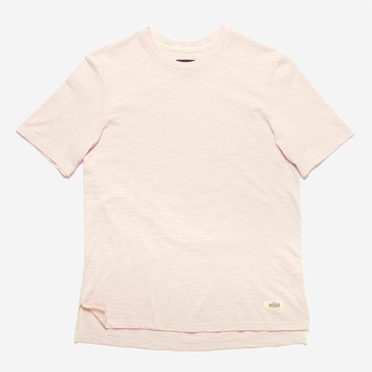 Outclass Attire Slub Knit T Shirt Rose
