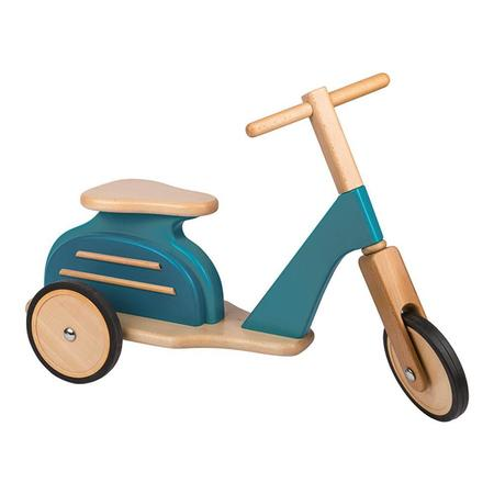 Kids Moulin Roty Blue Wooden Scooter