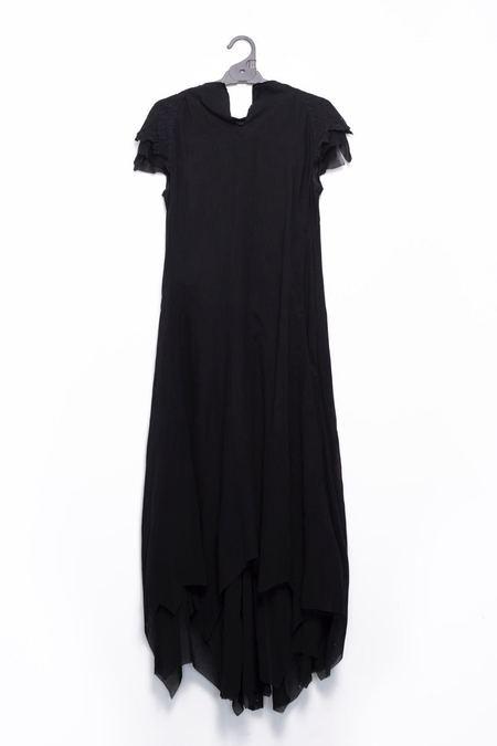 Aganovich Asymmetrical Lace Dress - Black