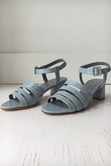 Maryam Nassir Zadeh Palma Low Sandal - Mist Faux Croc