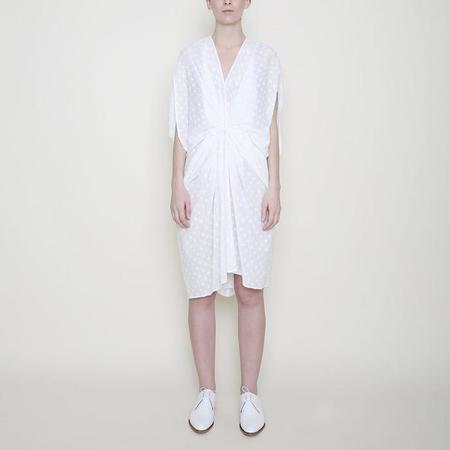 7115 by Szeki Kimono Dress - Off-White Dots