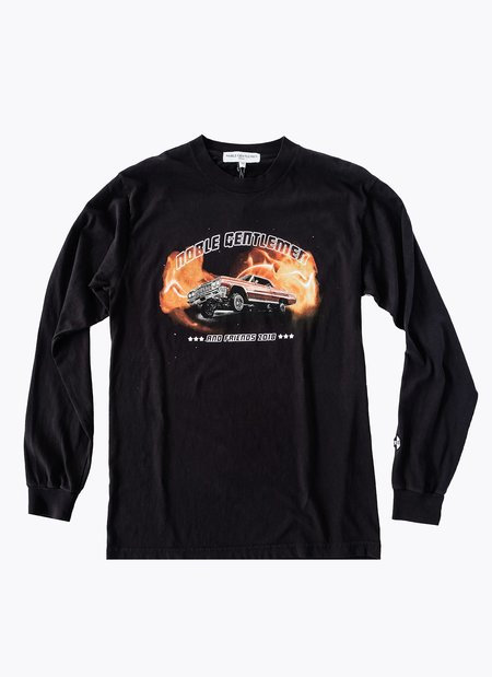 Noble Gentlemen Brand Car Club Long Sleeve T-shirt - Black