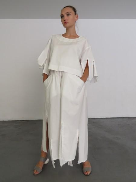 NANCY STELLA SOTO CCP PANTS - WHITE