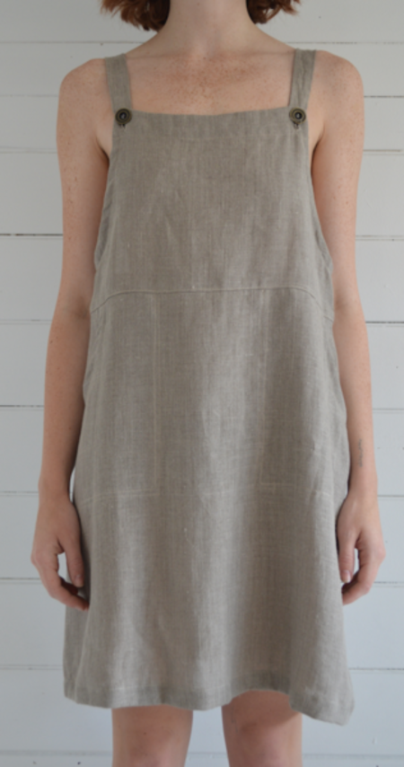 Erin Templeton Linen Overall Dress