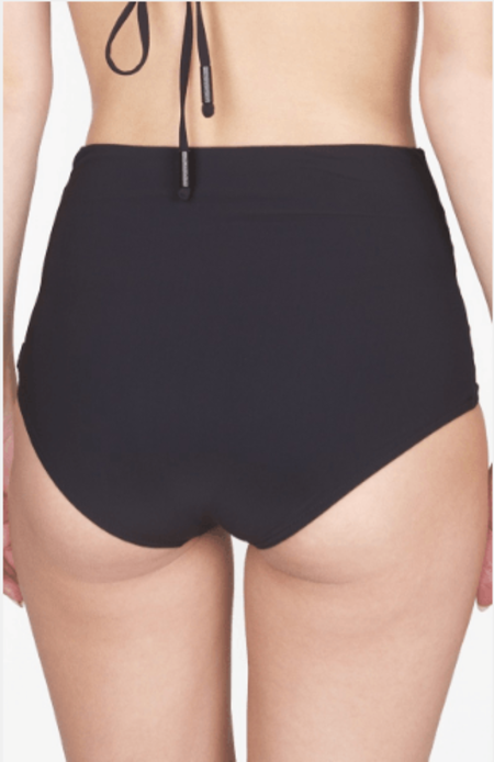 Shan High Waist Bikini Bottom - Onyx