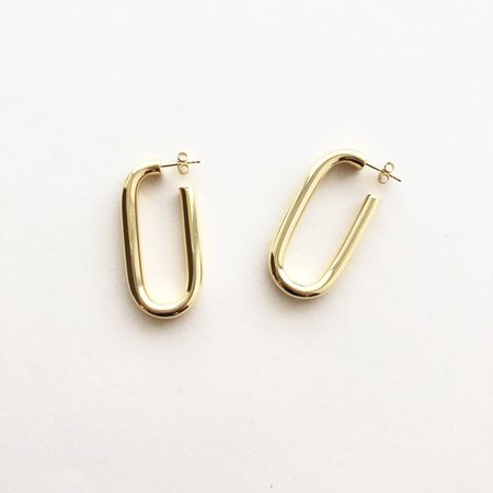 Machete Maya Earrings - 14K Gold