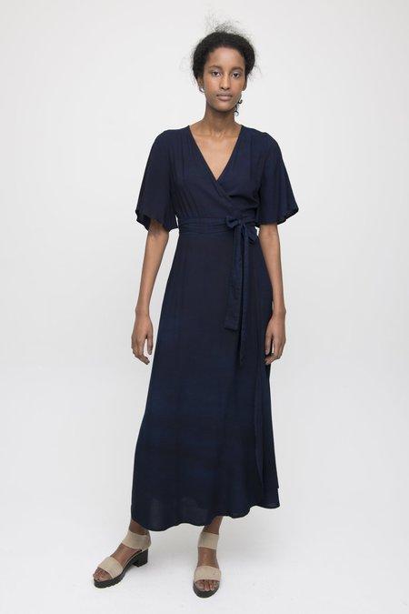 Osei-Duro Tulip Wrap Dress - Natural Indigo
