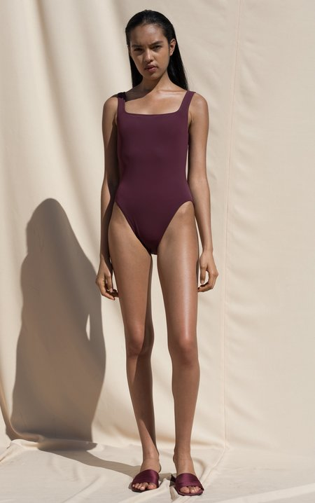Pari Desai Sylph One Piece Swimsuit - Maroon