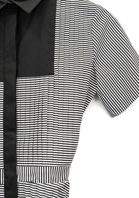 Smarteez Tuxedo Dress - BLACK/WHITE