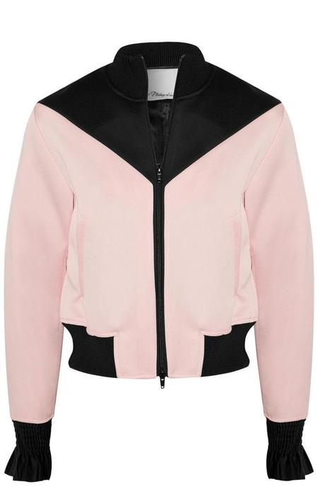 3.1 Phillip Lim Ruffle Sleeve Bomber Jacket - Color Block