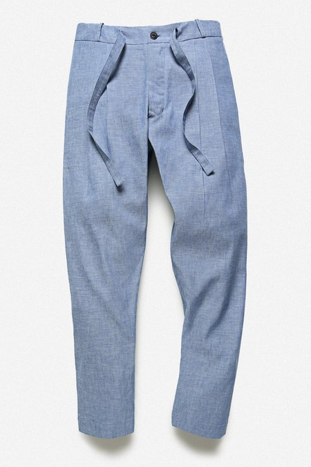 Fortune Goods Pleated Trouser - Japanese Selvedge Chambray