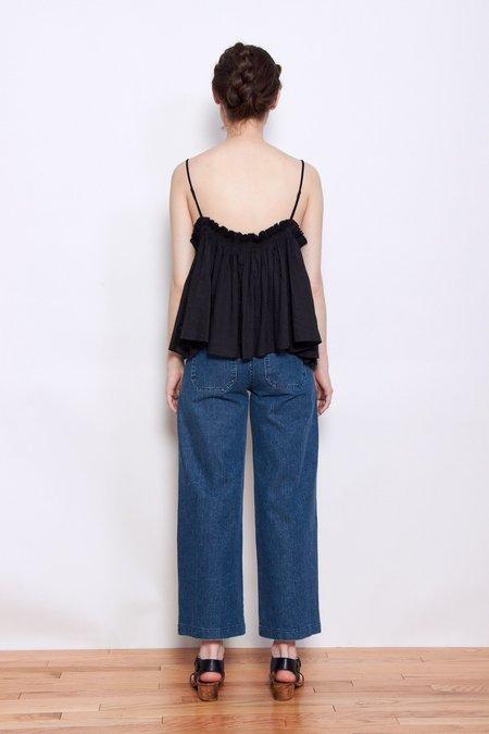 Apiece Apart Sanna Cropped Camisole - Black