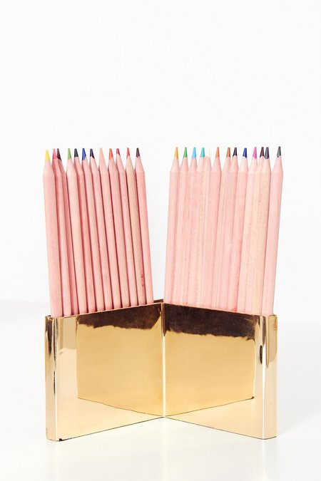 PERSONNEL of New York Brass Colored Pencil Set