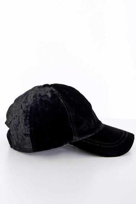 Colorant Velvet Fitted Cap - Black
