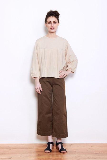 Persons Marla Cotton Yoke Shirt - Bisque
