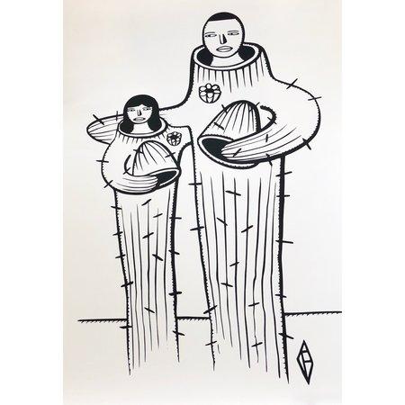 Fortoul Brothers Prints - Saguaro Couple