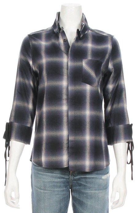 Calvin Rucker Tie Sleeve Plaid Shirt