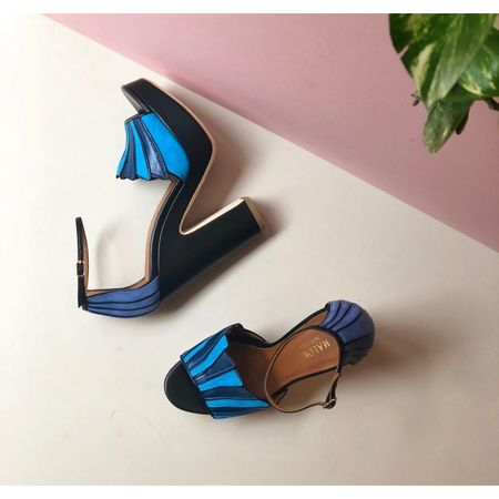 Malone Souliers Lillian Platform Sandals - Blue/Black