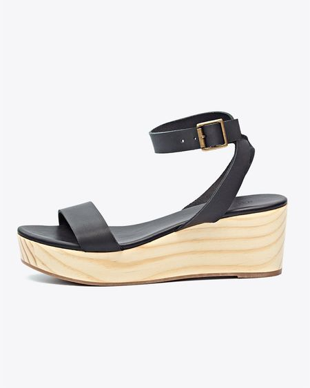 Nisolo Sarita Wedge Sandal - Black