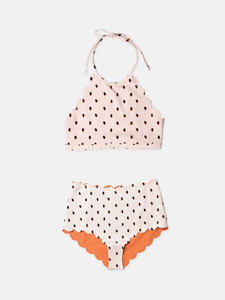 MARYSIA SWIM Mott Top And Santa Monica Bottom - Pink/Black/Terracotta Dot