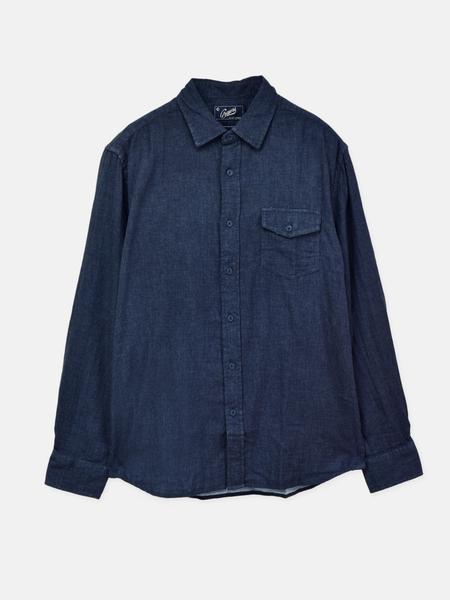 Grayers Hattox Double Cloth Shirt - Navy Heather