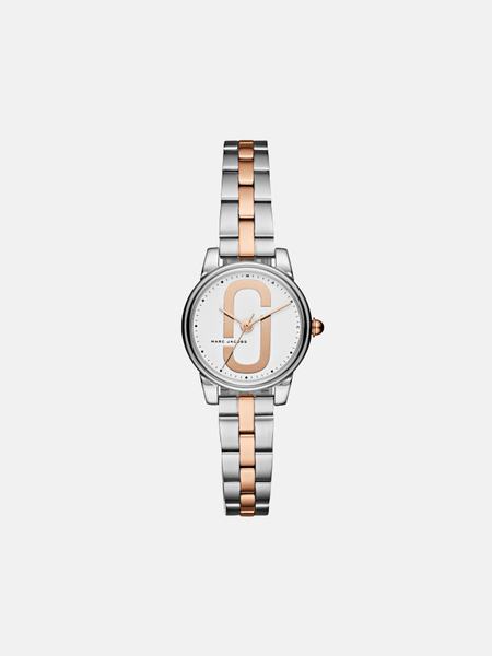 Marc by Marc Jacobs petite Corie watch - silver/rose gold