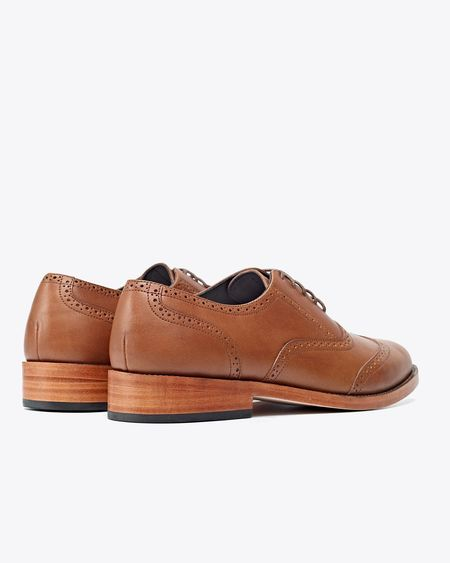 Nisolo Taylor Wingtip - Saddle Brown
