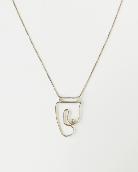Knobbly Studio x Laurie Franck Deconstructed Nude Necklace in Gold