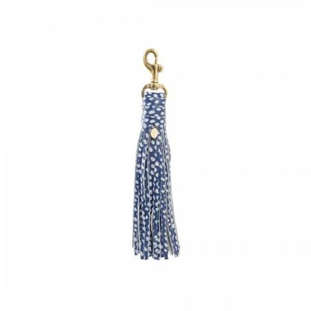 Clare V. Tassel Hook - Blue Dapple