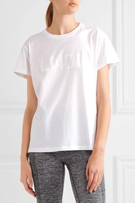 LNDR Printed Cotton Jersey Tee - WHITE