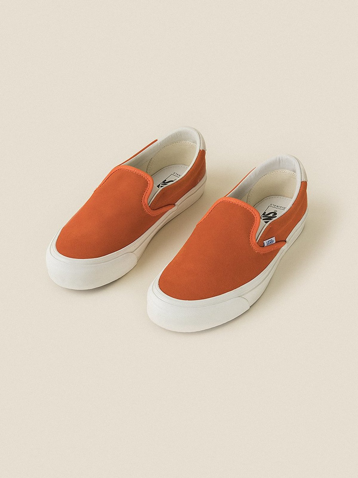 448a560b8c4 VANS VAULT OG Slip-On 59 LX (Suede) Red Orange Marshmallow