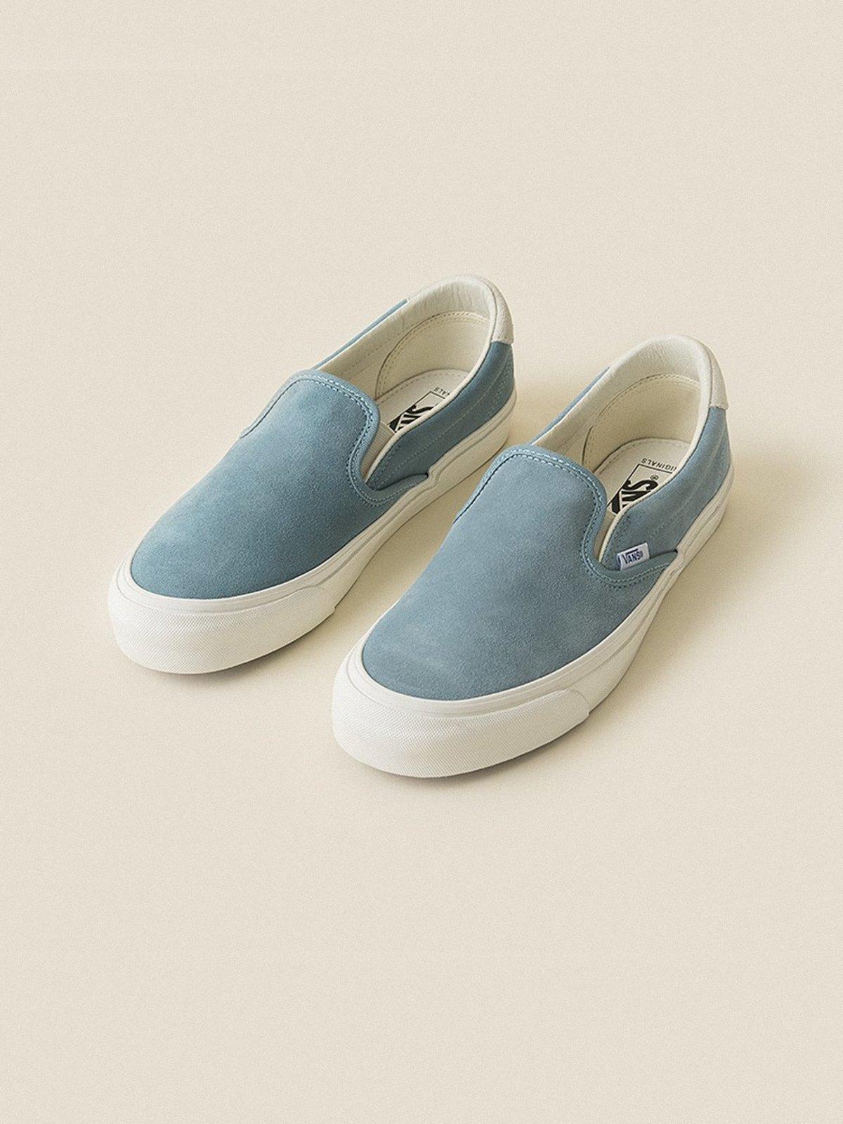 486aefc772a VANS VAULT Suede OG Slip-On 59 LX - Smoke Blue Marshmallow