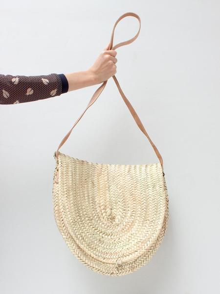 Bohemia Safi Crossbody Basket - Natural