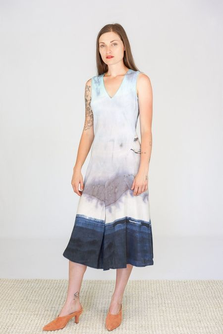 Go Silk Go Drape Dress - Monet's Garden Print