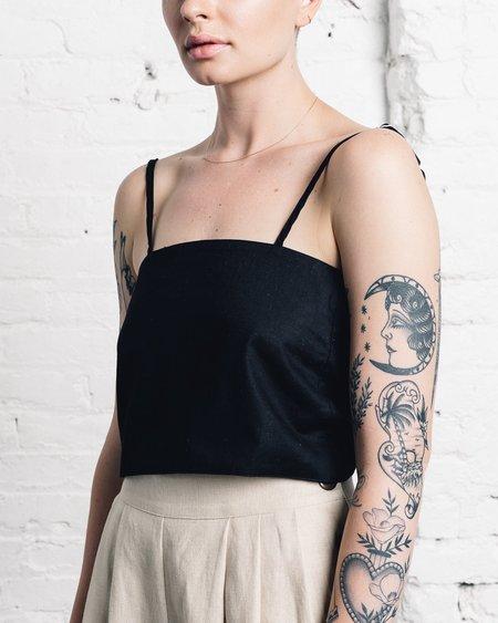 Micaela Greg Tie Tank - Black