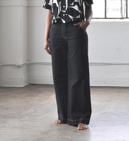 No.6 Ink Dillion Wide Trouser - Black