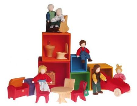 Kids Grimms Toys Wooden Set of Large Stacking Boxes
