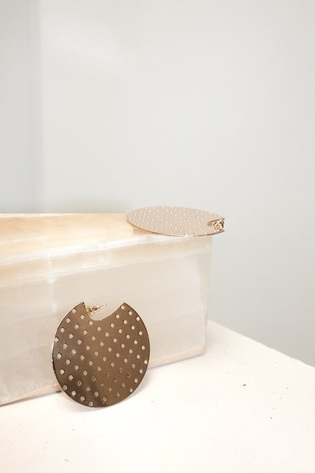 Minoux Perforated Disc Earrings