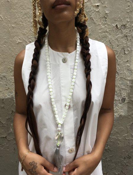 McKenzie Liautaud Untitled White Onyx Necklace