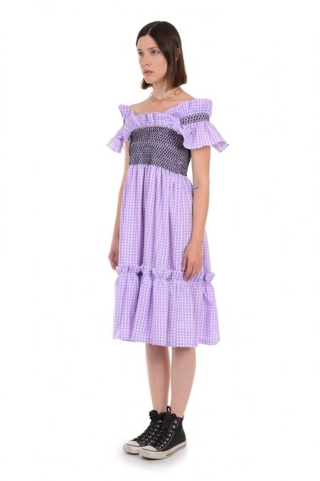 Lindsey Thornburg Wide Strap Queenie Dress - Lilac
