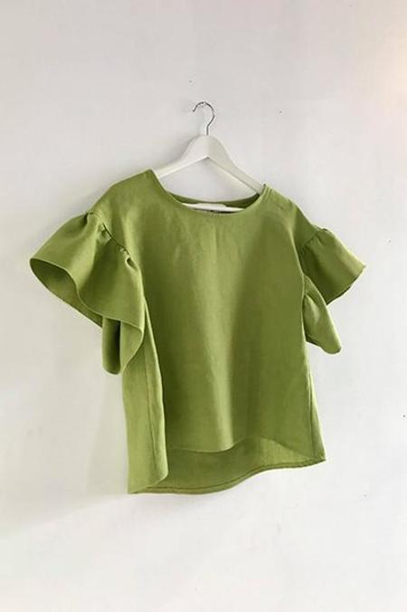 Eliza Faulkner Raffi Top - Lime Green