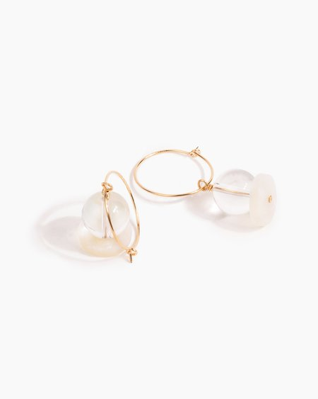 Poketo Highlow Quartz Stack Earrings