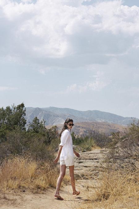 Lindsay High Rise Shorts - White