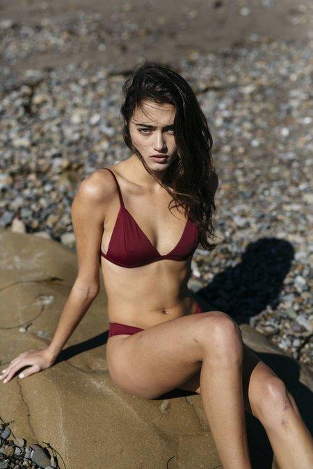 Slate Swim Rhythm Bikini Top - Wine
