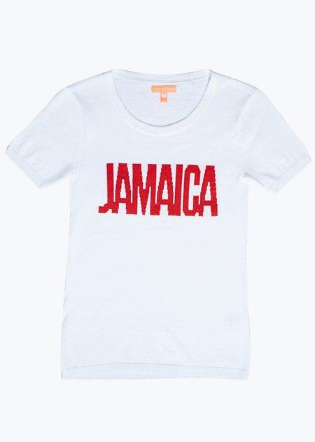 Thomas Sires Jamaica Intarsia Sweater Tee - WHITE